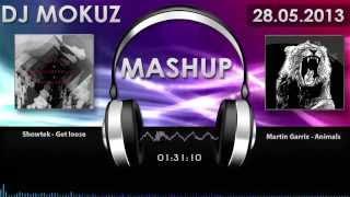 martin garrix vs showtek noisecontrollers animals vs get loose dj mokuz mashup