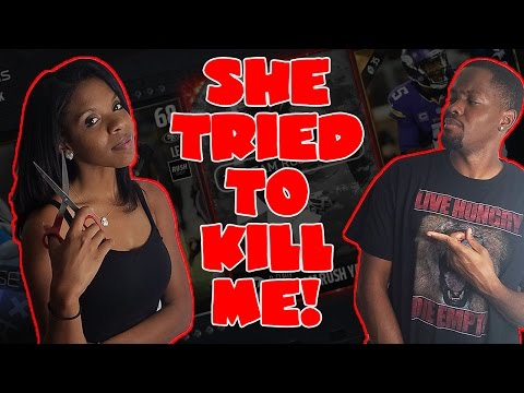 SHE'S CRAZY! SHE WANTED TO KILL ME! - Madden 17 Pack Wager   Madden 17 Flashback Pack Opening