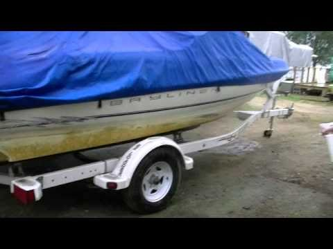 how to clean boat hull on trailer