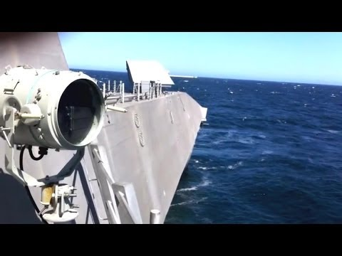 NAVSEA - USS Independence (LCS 2) 57mm Main Gun Live Firing [480p]