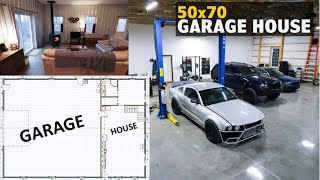 50x70 Garage House - FULL TOUR and COST Breakdown