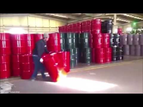 Workers Have Barrel Spinning Skills