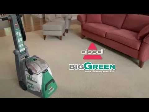 How To Use The Big Green Deep Cleaning Machine Bissell