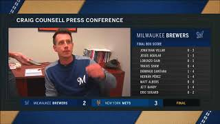 Brewers' Craig Counsell after 3-2 walk-off loss