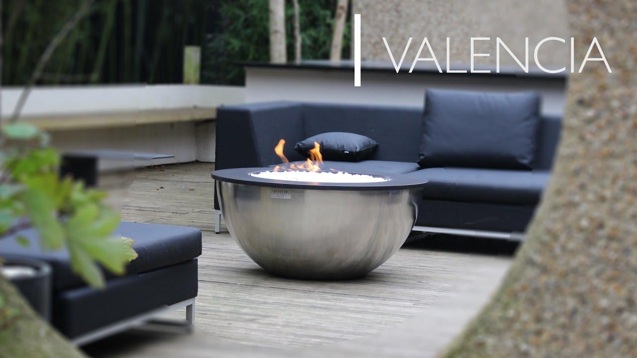 valencia gas fire table rivelin youtube