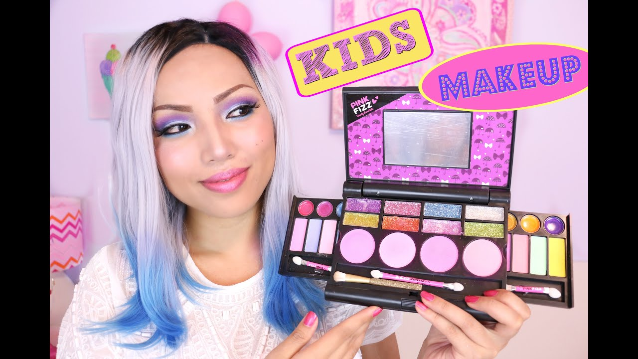 FULL FACE USING ONLY KIDS MAKEUP !!!