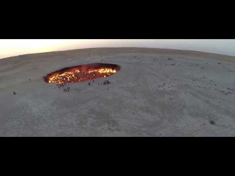 Door to Hell - Derweze, Turkmenistan - DJI Phantom 2 Drone Footage