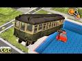 Subway Train Pool Diving Explosions BeamNG drive #3