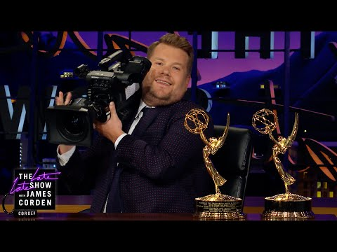 James Corden Celebrates His Emmy-Winning Crew