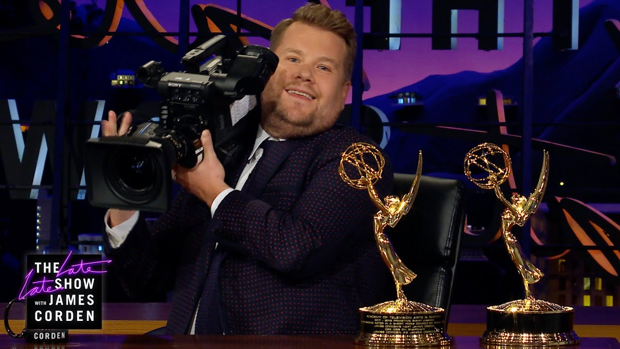 James Corden Celebrates His Emmy-Winning Crew