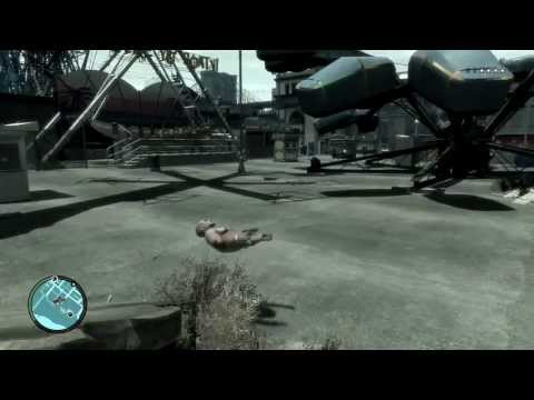 GTA IV Character Glitch (Mystery Steam Key in Annotation)