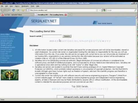 Download Any Serial, Keygen and Cracks (Serialkey net) - YouTube