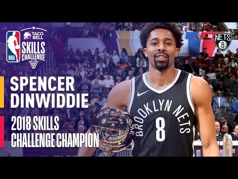 Spencer Dinwiddie Taco Bell Skills Challenge Champion 2018 | All 3 Rounds (VIDEO)