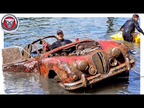 FOUND JAGUAR MK2 Classic Car Underwater in River at Boat Ramp!