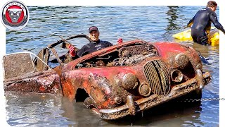 FOUND JAGUAR MK2 Classic Car Underwater in River at Boat Ramp!