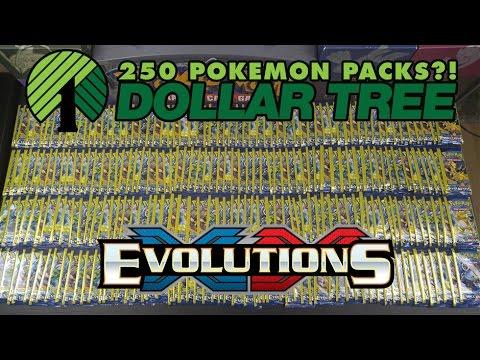 OPENING 250 PACKS OF EVOLUTIONS DOLLAR TREE POKEMON CARDS!!