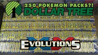 opening 250 packs of evolutions dollar tree pokemon cards