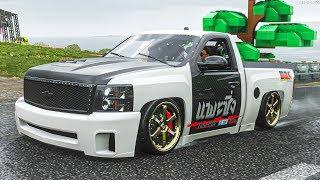 กระบะซิ่ง ศิษย์หลวงปู่เค็ม (Forza Horizon 4 Chevrolet Silverado 1500 DeBerti Design Drift Truck)