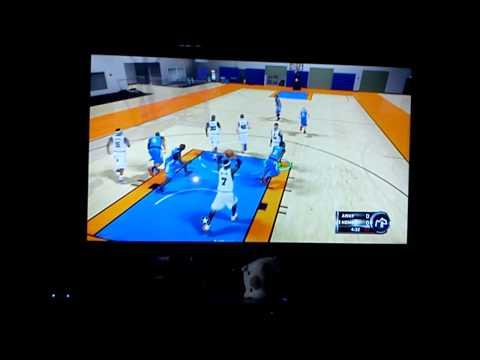 Playing NBA2k12 on Qube 42 smart tv