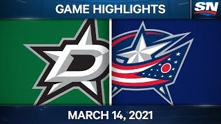 NHL Game Highlights   Stars vs. Blue Jackets – Mar. 14, 2021
