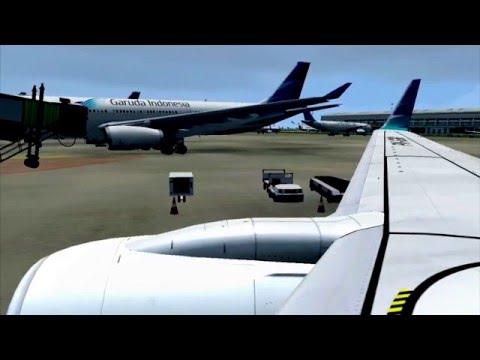 FSX Garuda Indonesia Bali to Jakarta PMDG B737