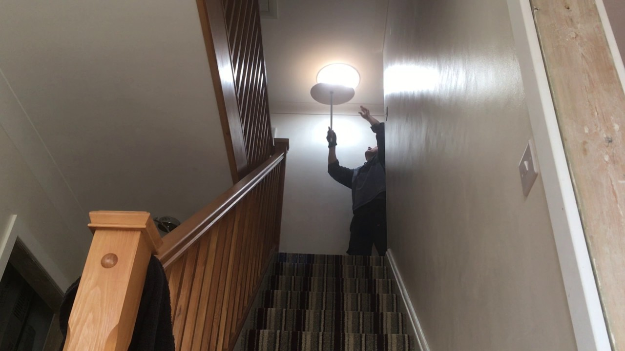 Sola Lights Up Landing Stairwell