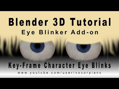 Blender 3D Tutorial - Animate Character Blink with the Eye Blinker Add-On by VscorpianC