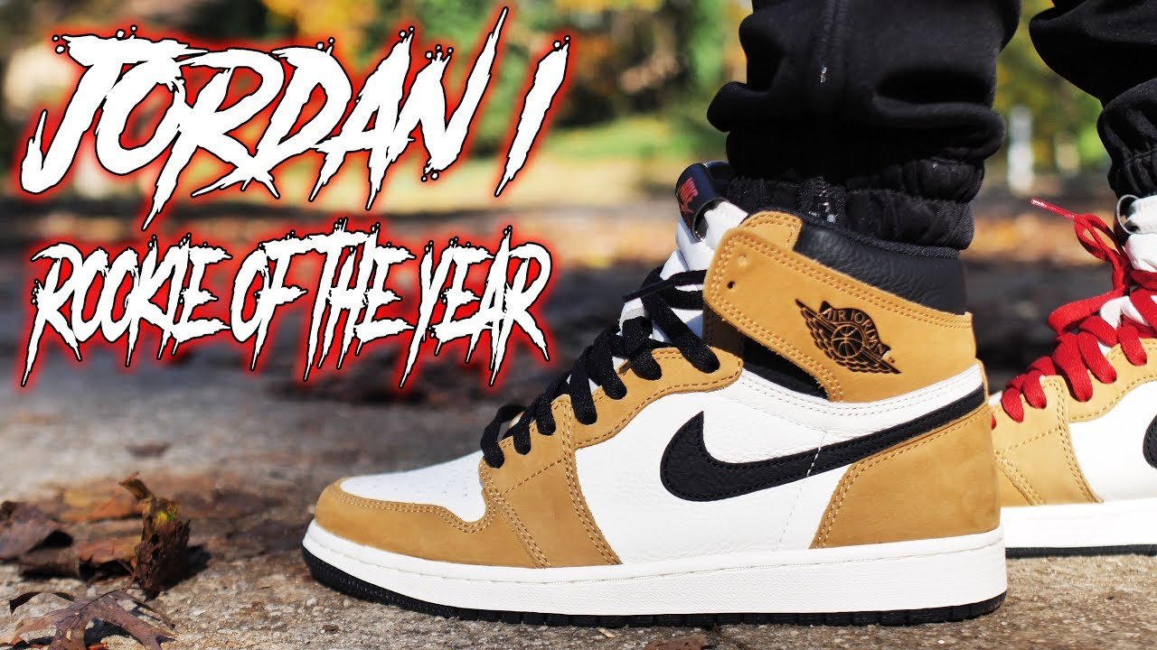 2513e5990a8 A MUST COP !!! JORDAN 1 ROOKIE OF THE YEAR ROTY REVIEW AND ON FOOT ...