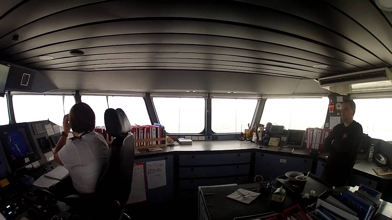 On the bridge of Isle of Man Steam Packet ferry Manannan
