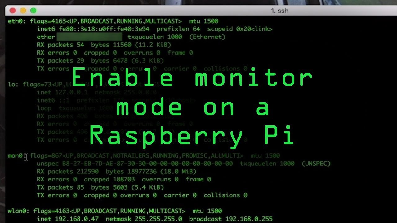 Enable Monitor Mode & Packet Injection on a Raspberry Pi Zero W Using Nexmon