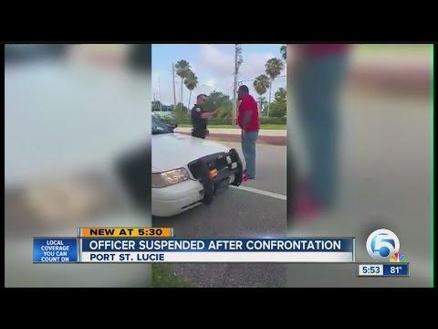 Officer suspended after