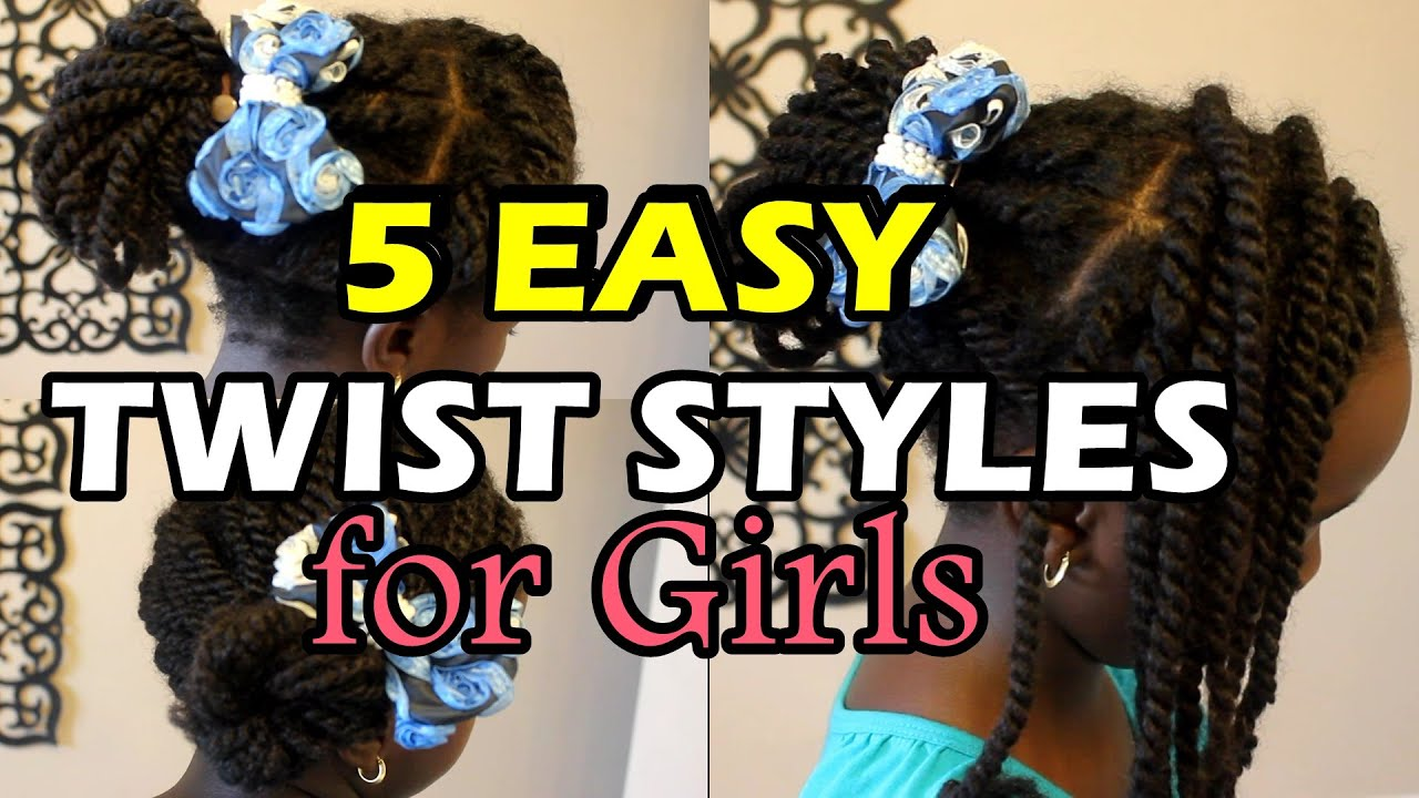 5 Quick and Easy Twists Hairstyles for Natural Hair Girls Back To