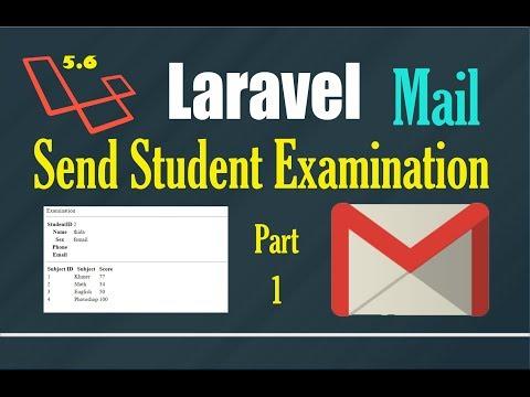 Laravel mail to send student examination result via online (L.5.6) part 1