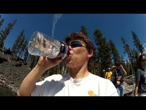 Drinking water from Crater Lake