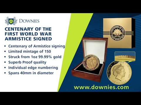 New at Downies.com: 2018 'Armistice Signed' 1oz Gold Proof Coin!