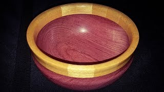 Woodturning Purpleheart with Yellowheart