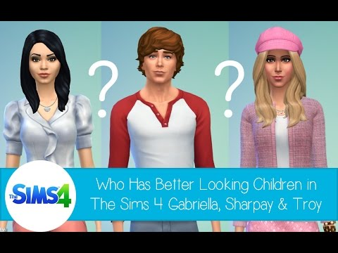 Who Has Better Looking Children In The Sims 4: Gabriella or Sharpay with Troy - High School Musical