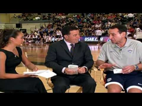 Army Basketball: Mike Krzyzewski interview at USA Basketball practice at West Point 8-18-14