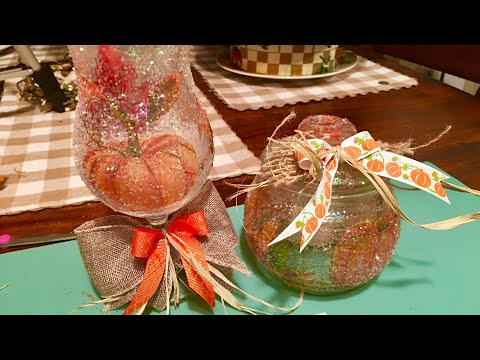 DIY DOLLAR TREE  Fall Pumpkin candle Holder! Part 1
