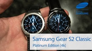 Samsung Gear S2 Classic Platinum Hands On 4k