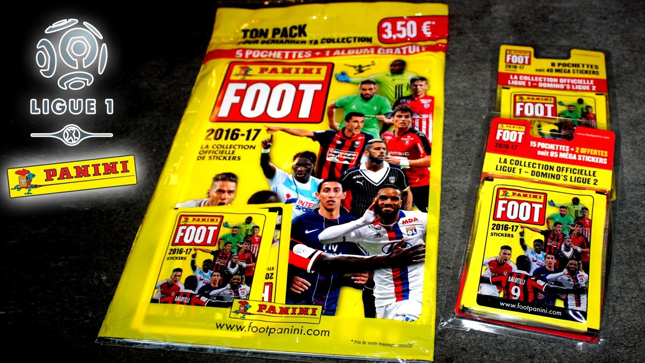 Panini Foot 2016 2017 Sticker Starter Pack De Ligue 1 Domino S Ligue 2 Youtube