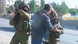 getlinkyoutube.com-Israeli soldairs filmed beating unarmed palestinian during west bank protest    Palestine TV, Reuter