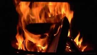 Virtual Fireplace: Relaxing Orange Flames with Soft Crackling Fire Sounds (HD)