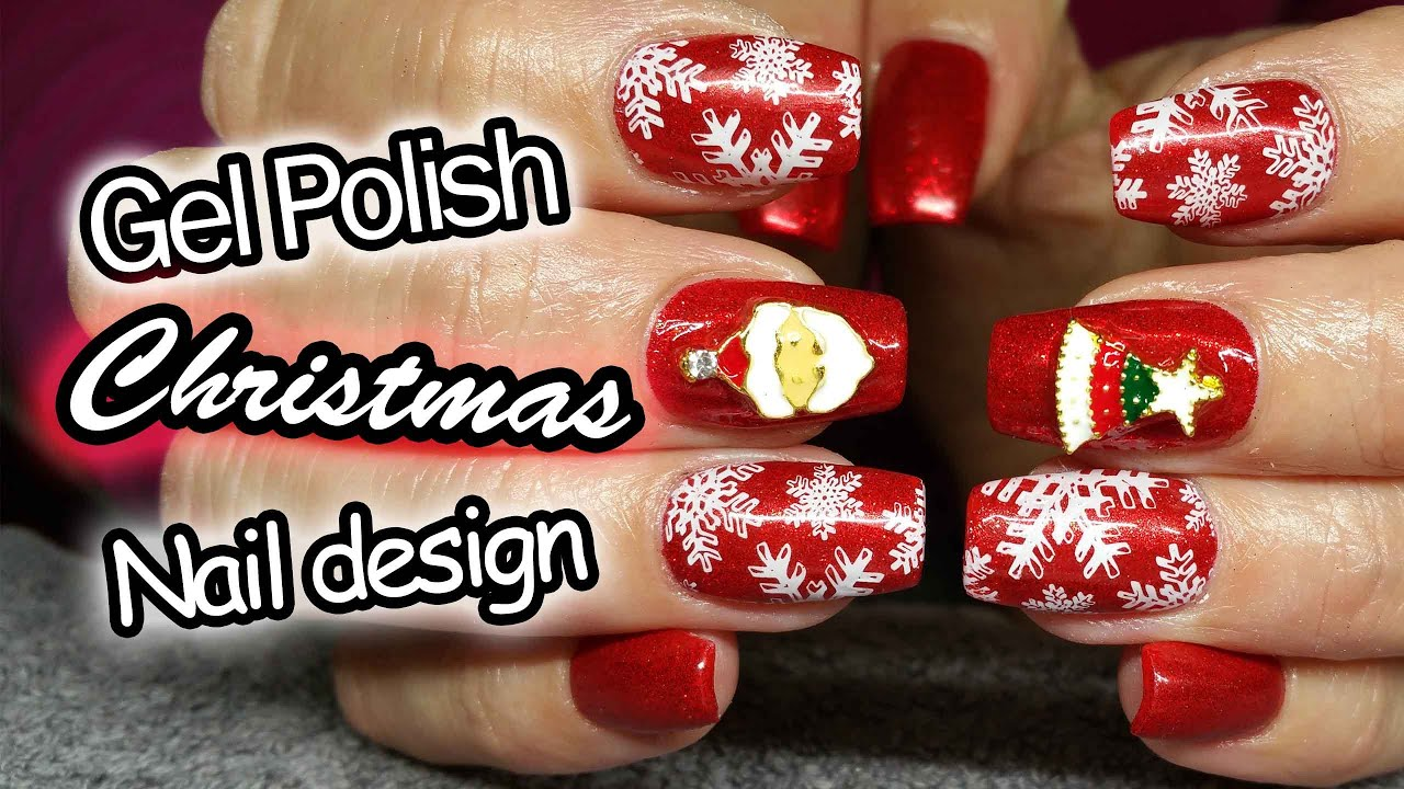 Acrylic Nails | Christmas Design | Bornprettystore Nail Charms - YouTube
