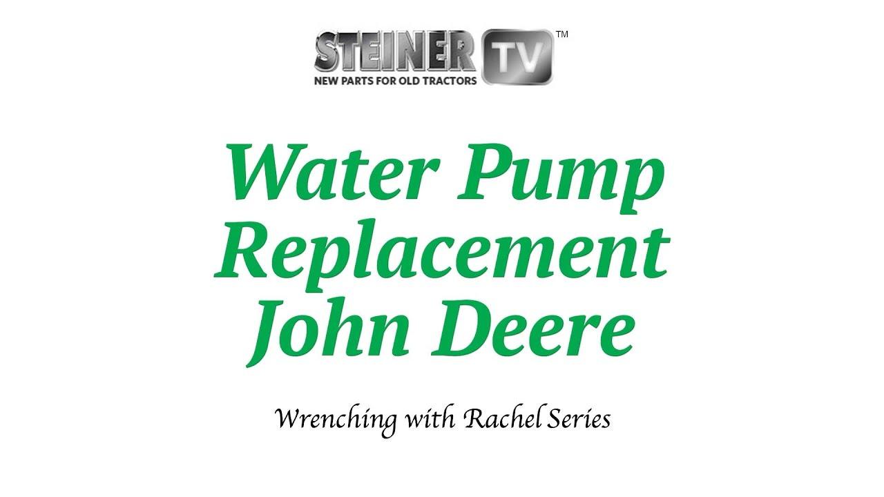 Water Pump Replacement Youtube John Deere 4430 Tractor Wiring Diagrams Diagram For