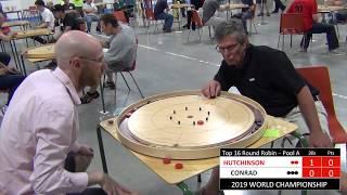 2019 World Crokinole Championship - Top 16 - Conrad v Hutchinson
