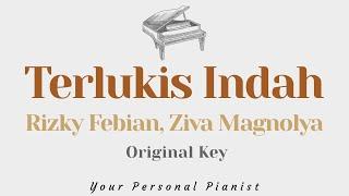 Download Terlukis Indah - Rizky Febian, Ziva Magnolya (Original Key Karaoke) - Piano Instrumental Cover