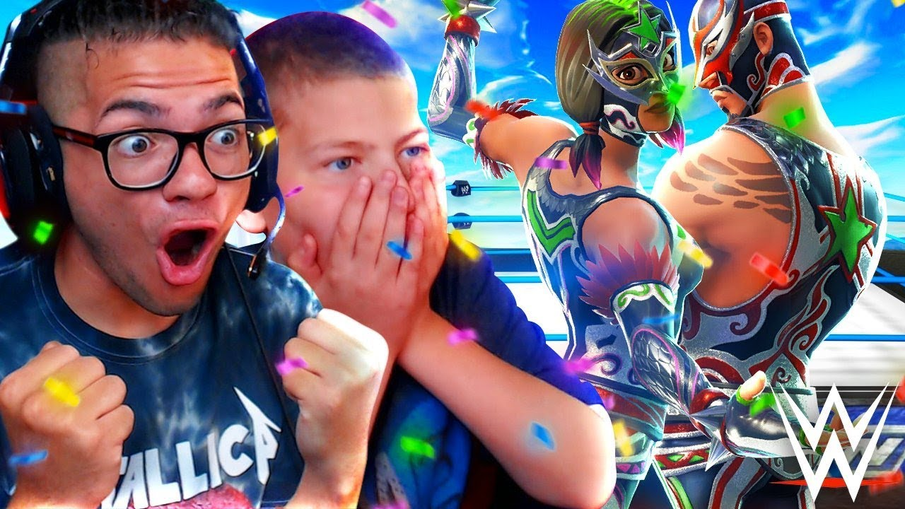 surprising-jayden-with-wwe-themed-skins-he-was-so-happy-fortnite-battle-royale-10-year-old-kid