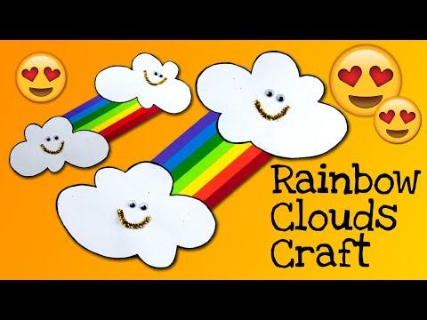 How to make Rainbow Clouds! DIY Kids Room Decor Ideas!
