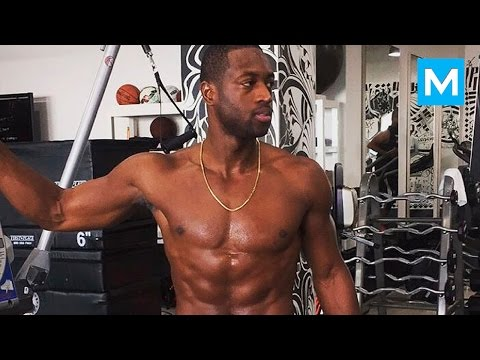 Dwyane Wade Conditioning Training for NBA   Muscle Madness